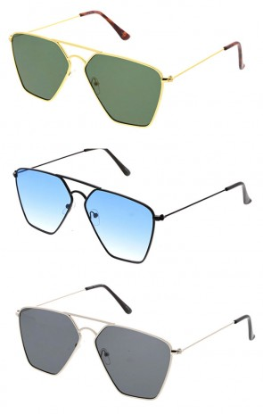 Wholesale Square Metal Aviators Sunglasses