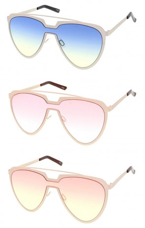 Retro Crossbar Tear Drop Wholesale Sunglasses