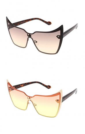 Retro One Piece Cat Eye Wholesale Sunglasses
