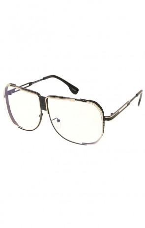 Rad Square Disco Clear Lens Aviator Wholesale Sunglasses