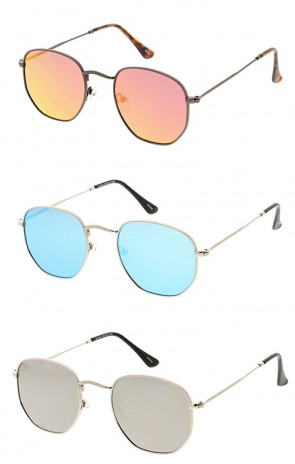 Premium Retro Small Octagon Mirror Lens Wholesale Sunglasses