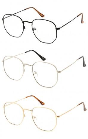 Retro Ontagon Clear Lens Wholesale Sunglasses