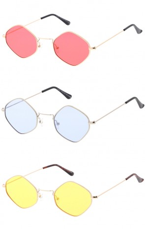 Premium Trending Retro 1990's Diamond Color Lens Wholesale Sunglasses