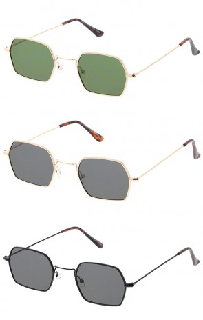 Premium Retro Geometric Octagon Flat Lens Wholesale Sunglasses