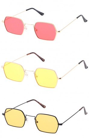 Premium Retro Geometric Octagon Color Lens Wholesale Sunglasses