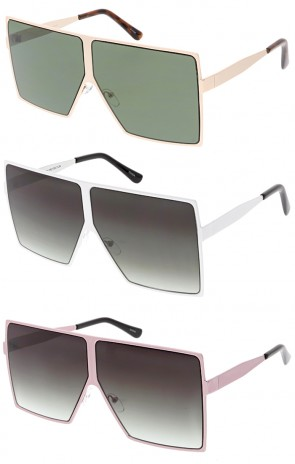 Oversized Retro Modern Futuristic Square Aviator Wholesale Sunglasses