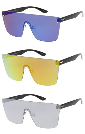 Futuristic Rimless Mono Frameless Wholesale Sunglasses