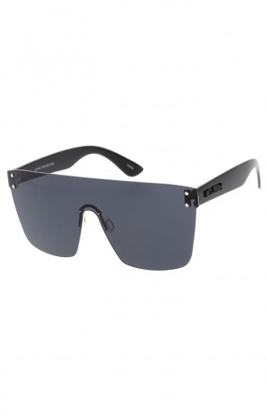 Retro Modern Rimless Mono Block Kush Wholesale Sunglasses