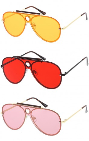 Shooter Aviator Color Lens Wholesale Sunglasses