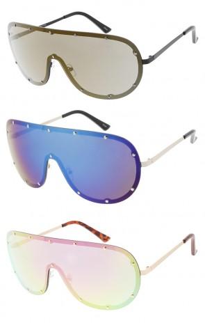 Mono Lens Full Shield Aviator Sunglasses