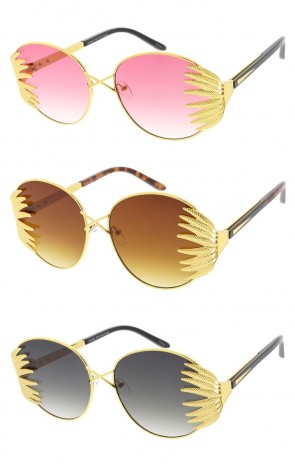 Feather Frame Flat Lens Womens Wholesale Sunglasses