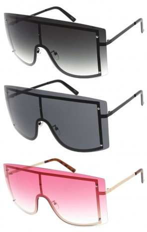 Large Oversized One Piece Shield Wholesale Sunglasses