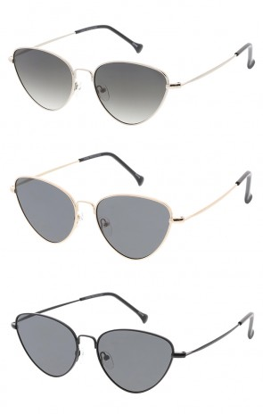 Thin Metal Cat eye Womens Wholesale Sunglasses