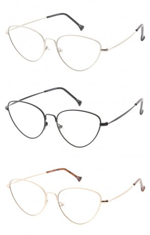 Thin Metal Frame Cat eye Wholesales Glasses