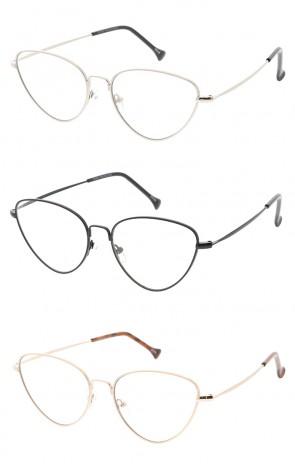 Thin Metal Frame Cat eye Wholesales Glasses