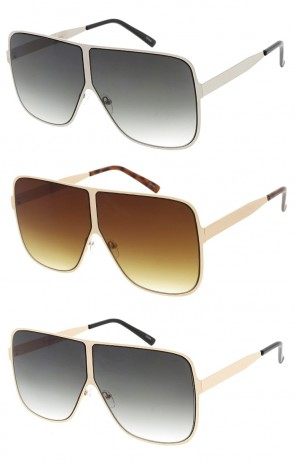 Oversized Square Metal Frame Wholesale Sunglasses