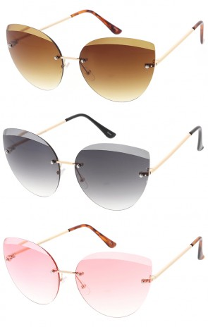 Retro Half Frame Cat Eye Fashion Wholesale Sunglasses