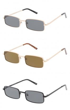 Thin Metal Rectangle Lens Wholesale Sunglasses