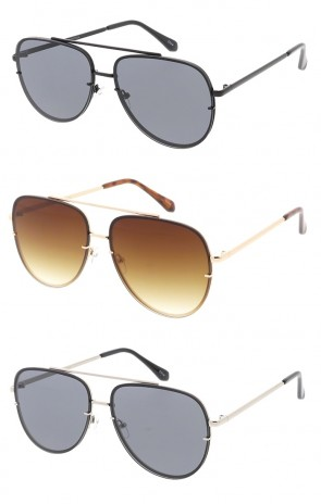 Rimless Metal Aviator Wholesale Sunglasses