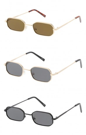 Thin Metal Rounded Rectangle Lens Wholesale Sunglasses