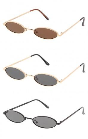 Thin Metal Oval Mirror Wholesale Sunglasses