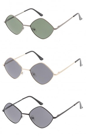 Premium Retro 1990's Fashion Small Diamond Shape Unisex Wholesale Sunglasses