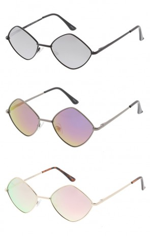 Premium Retro 1990's Fashion Small Diamond Shape Revo Lens Unisex Wholesale Sunglasses