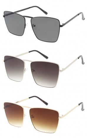 Modern Metal Lens Aviator Wholesale Sunglasses