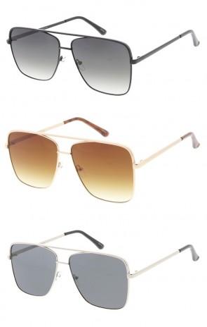 Square Fashion Metal Wholesale Aviator Sunglasses