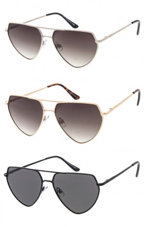 Metal Frame Flat Top Aviator Wholesale Sunglass