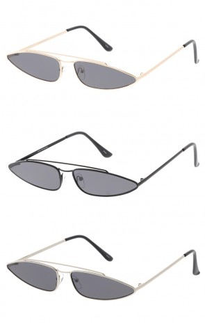 Small True Vintage 1990'S Metal Thin Wholesale Sunglasses