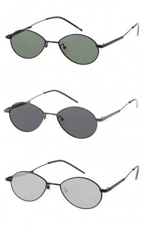 Thin Wire Frame Oval Lens Wholesale Sunglasses