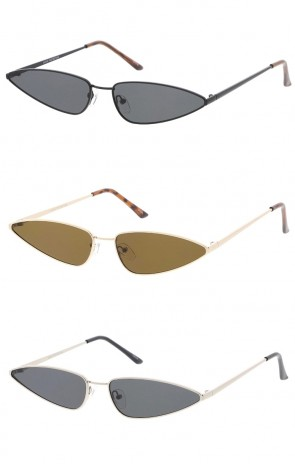 90's Small Metal Cat Eye Wholesale Sunglasses