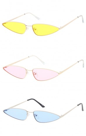 90's Small Metal Cat Eye Color Lens Wholesale Sunglasses