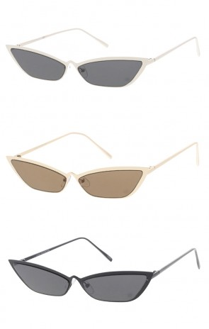 Womens Small Metal Cat Eye Wholesale Sunglasses