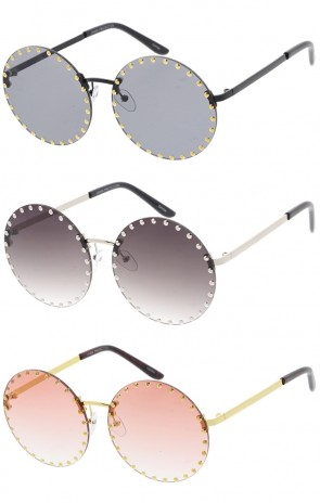Round Studded Womens Wholesale Sunglasses