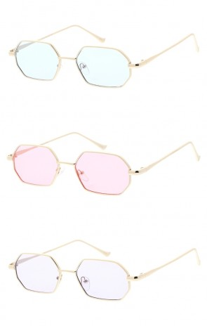 Small Metal Geometric Color Tinted Lens Wholesale Sunglasses