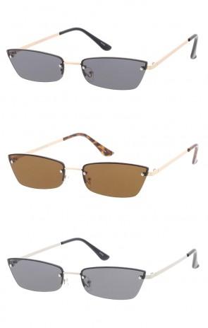 Retro 1990's Small Rectangle Wholesale Sunglasses