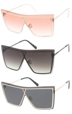 Womens Oversized Square Cat Eye Sunglasses
