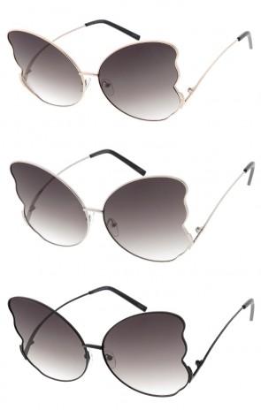 ecc9ebd1439 Oversize Butterfly Metal Frame Wholesale Sunglasses