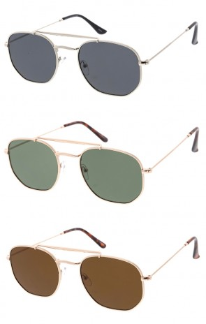 Unisex Small Hexagon Metal Frame Classic Wholesale Sunglasses