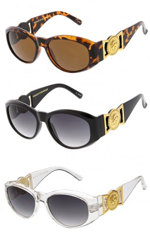 Vivant Cat Eye Arm Logo Luxury Wholesale Sunglasses
