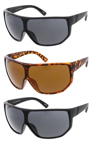 Oversized Fashion One Piece Lens Wrap Wholesale Sunglasses