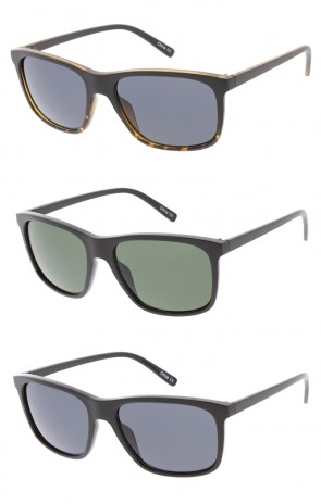 Men's Basic Frame Plastic Square Sunglasses