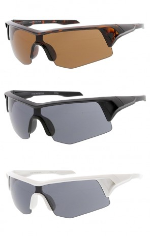 Sport Wrap Around Half Frame Wholesale Sunglasses
