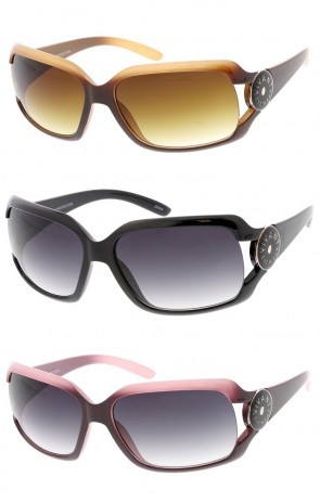 Vivant Womens Chunky Fashion Oversized Wholesale Sunglasses