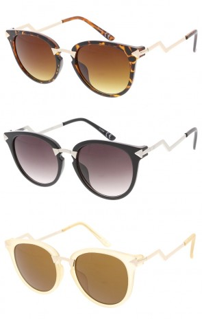 Elegant Designer Metal Arms Fashion Cat Eye Wholesale Sunglasses