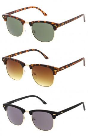 499b3d314ee Vintage Half Frame Horned Rim Wholesale Sunglasses
