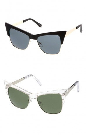 Women's Combo Extreme Cat Eye Wholesale Sunglasses