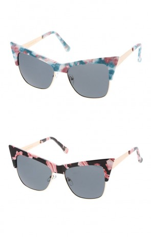 Women's Combo Extreme Pattern Frame Cat Eye Wholesale Sunglasses
